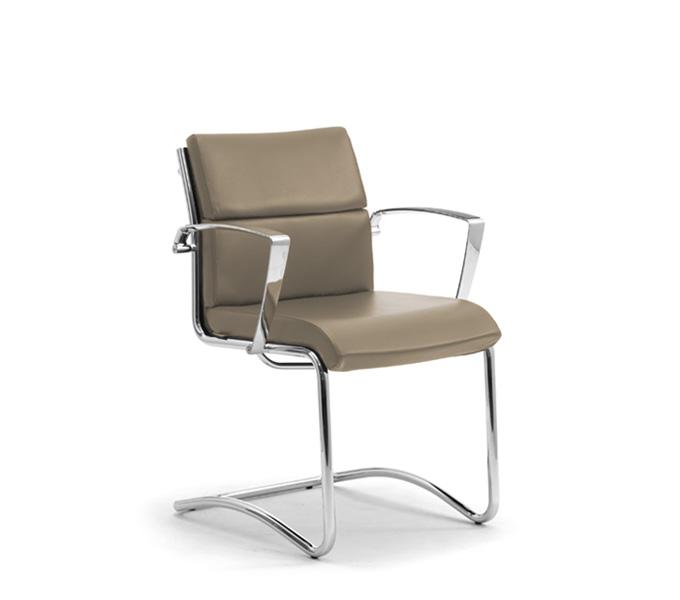 Sedie per scrivania ufficio senza ruote - Leyform