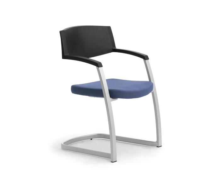 Sedie per scrivania ufficio senza ruote leyform for Sedia scrivania design